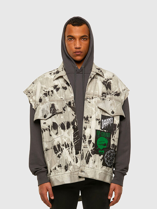 D-RAFFO, Black/White - Denim Jackets