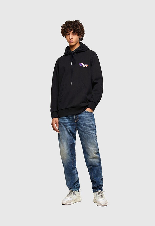 S-GIRK-HOOD-K3, Azure - Sweaters