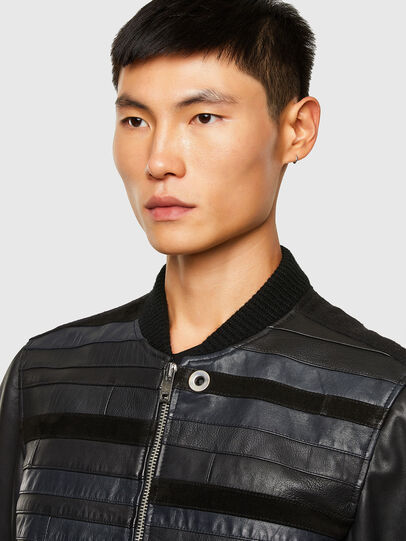 Diesel - L-ROGER, Black - Leather jackets - Image 3