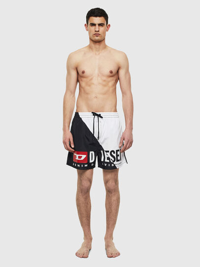 Diesel - BMBX-WAVE 2.017, Black/White - Swim shorts - Image 1