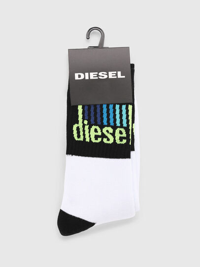 Diesel - SKM-RAY, White/Black - Socks - Image 2