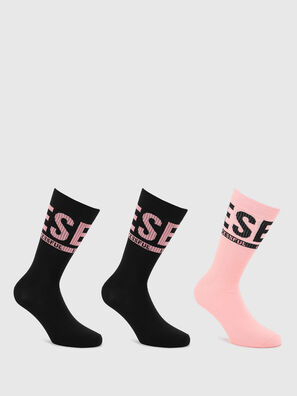 SKM-RAY-THREEPACK, Black/Pink - Socks