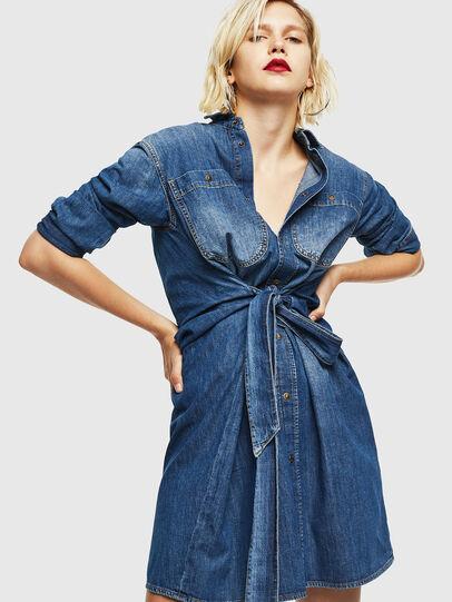 Diesel - DE-BLEU, Medium blue - Dresses - Image 4