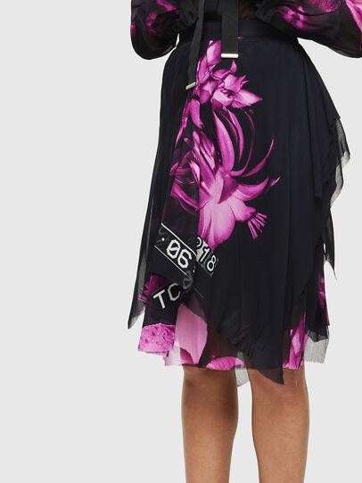 Diesel - O-CERYS, Black/Pink - Skirts - Image 3