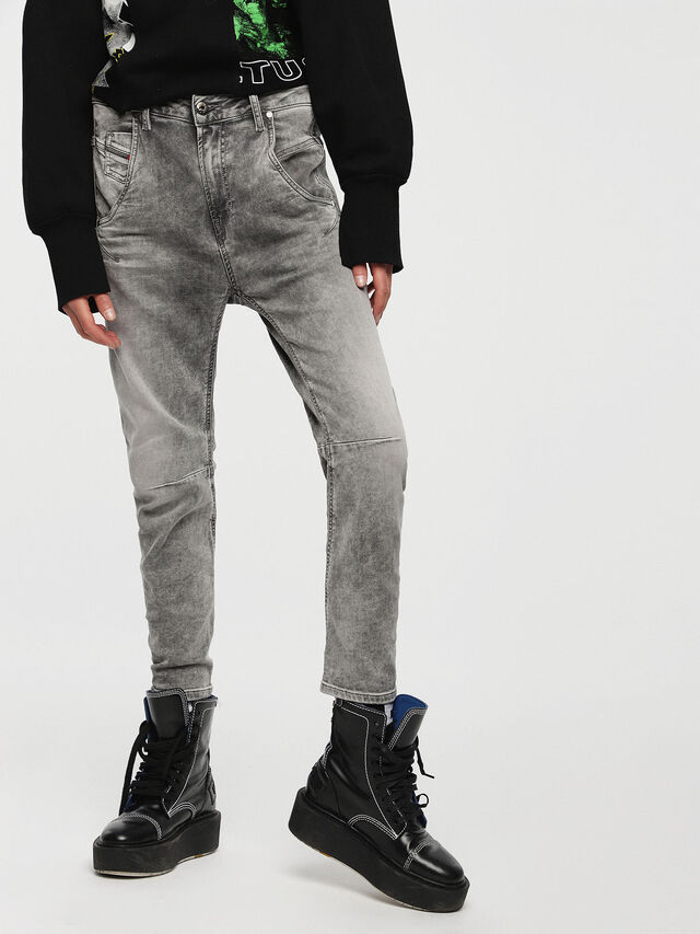 Diesel Fayza JoggJeans 0855B, Light Grey - Jeans - Image 1