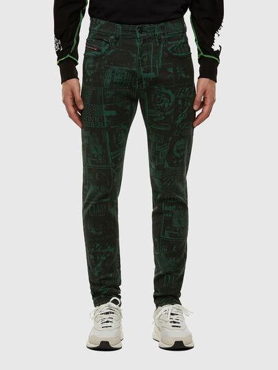 Diesel - D-Strukt 009GB, Dark Green - Jeans - Image 1