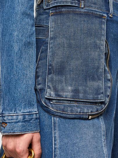 Diesel - DE-PEN, Medium blue - Skirts - Image 5