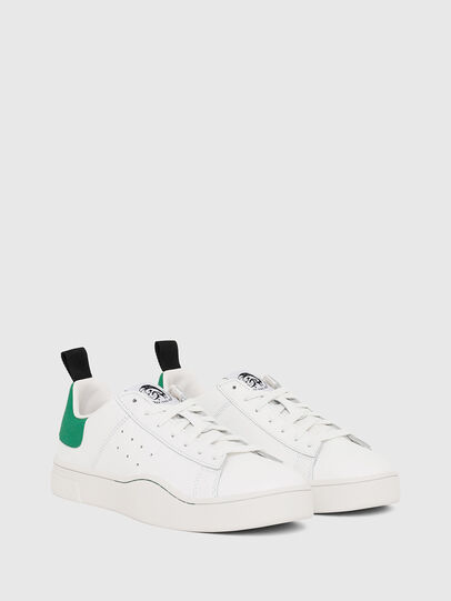Diesel - S-CLEVER LOW, White/Green - Sneakers - Image 2