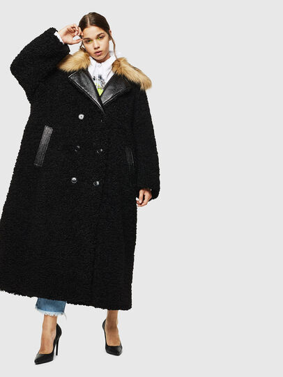 Diesel - L-ASC, Black - Leather jackets - Image 1