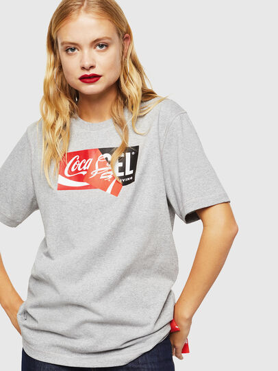 Diesel - CC-T-JUST-COLA, Grey - T-Shirts - Image 2