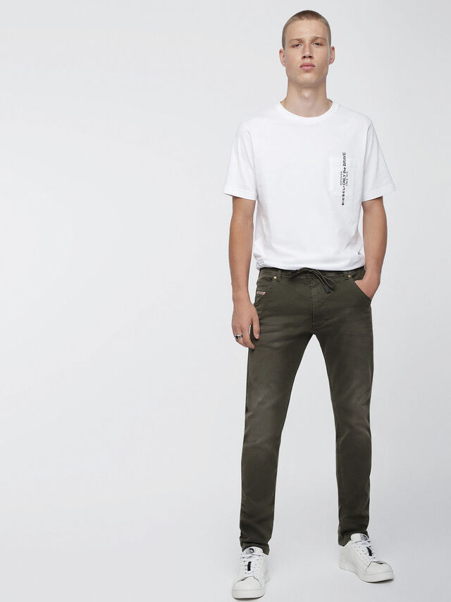 Diesel Krooley JoggJeans 0670M, Military Green - Jeans - Image 4