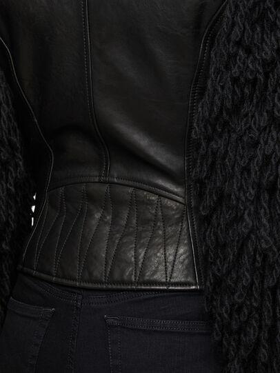 Diesel - L-ELIZABETH, Black - Leather jackets - Image 7