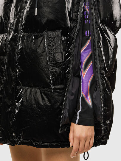 Diesel - W-DERK, Black - Winter Jackets - Image 5