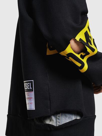 Diesel - S-BAY-HOLES, Black/Yellow - Sweaters - Image 3