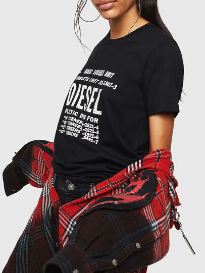 Diesel - T-SILY-ZF, Black - T-Shirts - Image 5