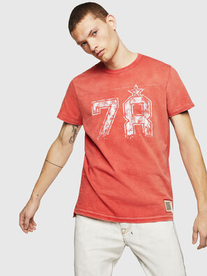 T-DIEGO-CUT-AB, Fire Red - T-Shirts