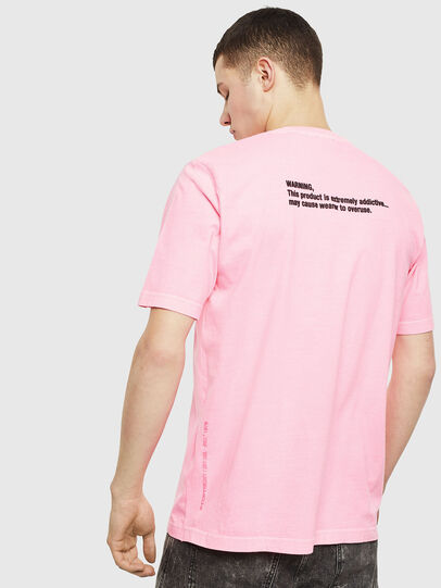 Diesel - T-JUST-NEON, Pink - T-Shirts - Image 3
