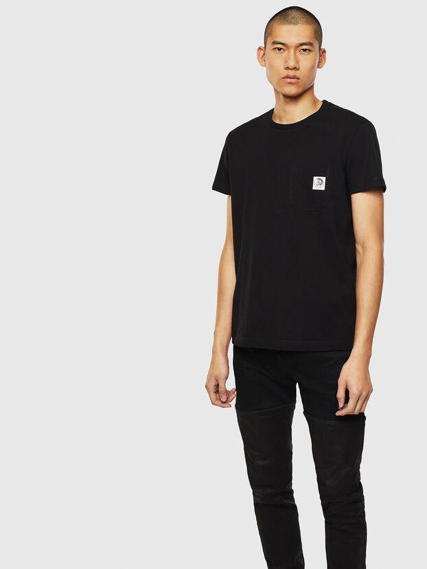 T-WORKY-MOHI, Black - T-Shirts