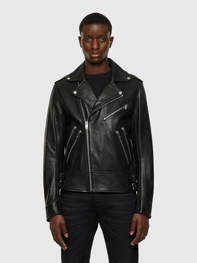 Diesel - L-GARRETT-A, Black - Leather jackets - Image 1