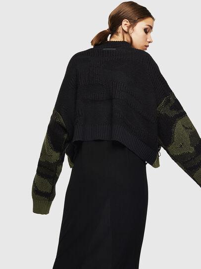 Diesel - M-KAM, Black/Green - Knitwear - Image 2