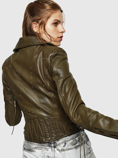 Diesel - L-SINYA-A, Military Green - Leather jackets - Image 2