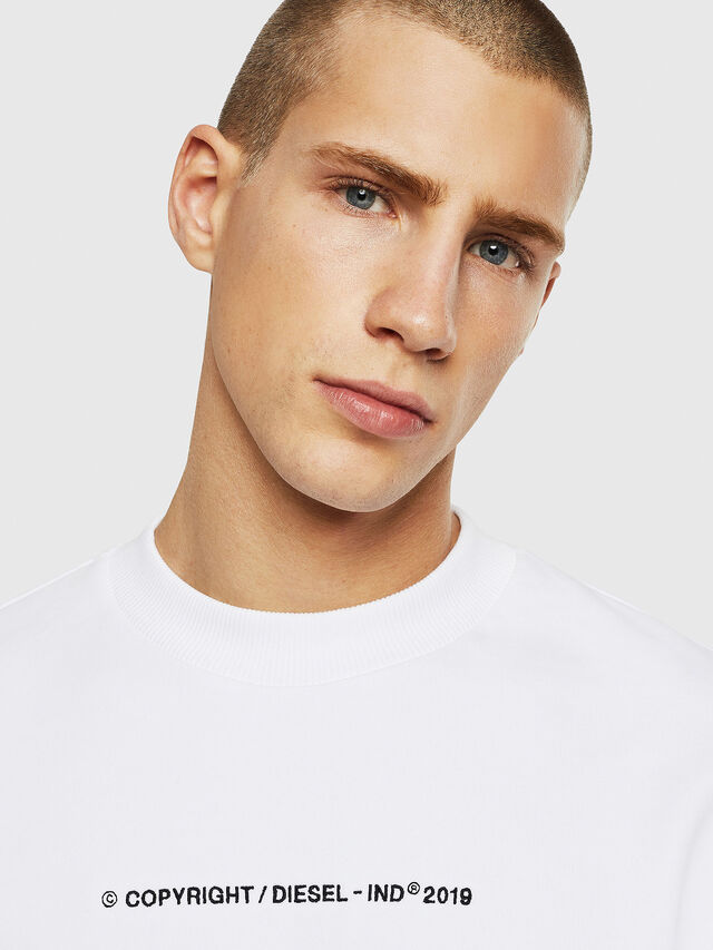 Diesel - S-BAY-COPY, White - Sweaters - Image 3