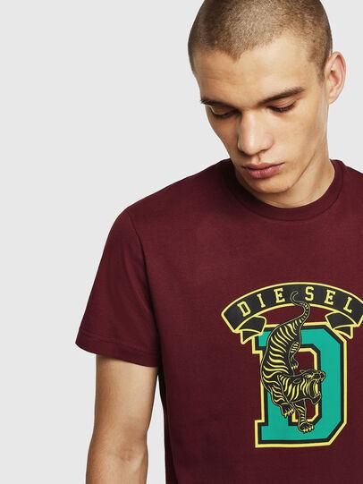Diesel - T-DIEGO-B4, Bordeaux - T-Shirts - Image 3