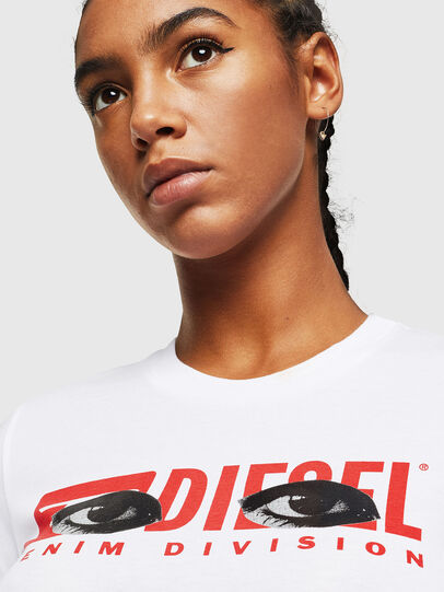 Diesel - T-SILY-YD, White - T-Shirts - Image 3