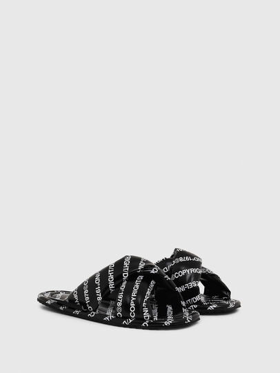 Diesel - SA-MERY X, Black/White - Slippers - Image 2