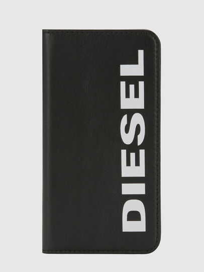 Diesel - SLIM LEATHER FOLIO IPHONE X, Black - Flip covers - Image 5