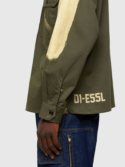 Diesel - S-BUNNELL, Olive Green - Shirts - Image 4