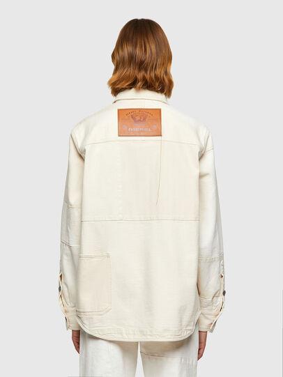 Diesel - D-HORUS-SP, White - Denim Shirts - Image 4