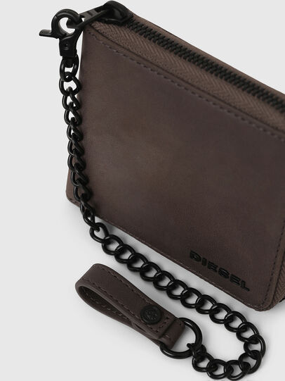 Diesel - ZIPPY HIRESH S WITH, Dark grey - Zip-Round Wallets - Image 4