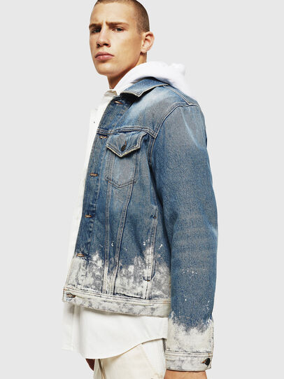 Diesel - NHILL, Light Blue - Denim Jackets - Image 7