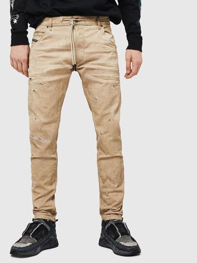 Diesel - Krooley JoggJeans 069GT, Beige - Jeans - Image 1