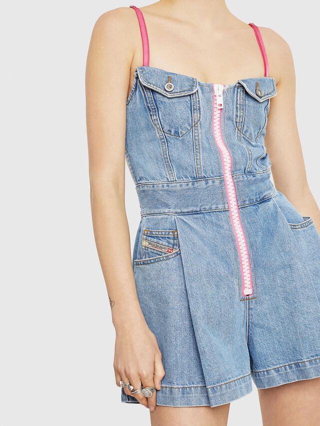 Diesel - DE-STRAPPY, Blue Jeans - Jumpsuits - Image 4