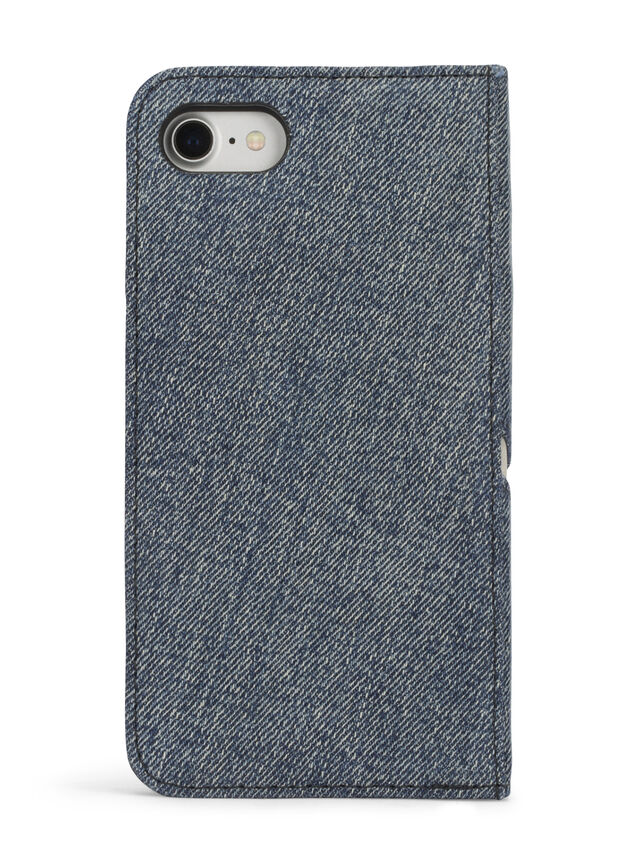 Diesel DENIM IPHONE 8/7 FOLIO, Blue Jeans - Flip covers - Image 4