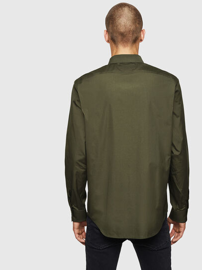 Diesel - S-BILL, Dark Green - Shirts - Image 2