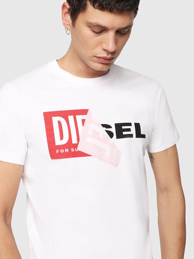 Diesel T-DIEGO-QA, White - T-Shirts - Image 3