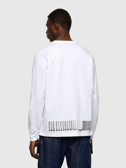 Diesel - T-JUST-LS-A7, White - T-Shirts - Image 2