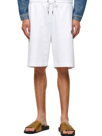 Diesel - P-CROWN-ECOLOGO, White - Shorts - Image 1