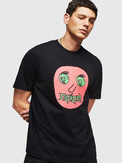 Diesel - T-JUST-B27, Black - T-Shirts - Image 1