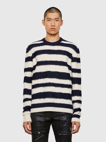 Diesel - K-BRODIE, White/Blue - Knitwear - Image 1