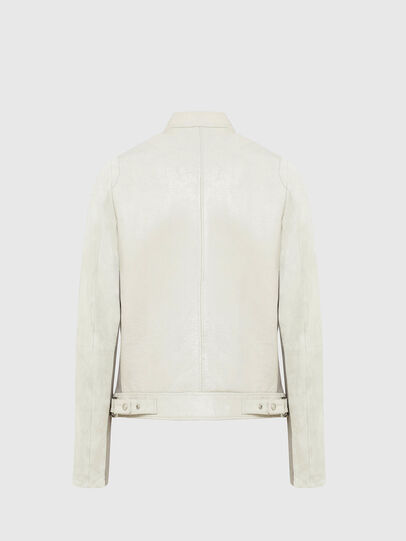 Diesel - L-CROME, White - Leather jackets - Image 2