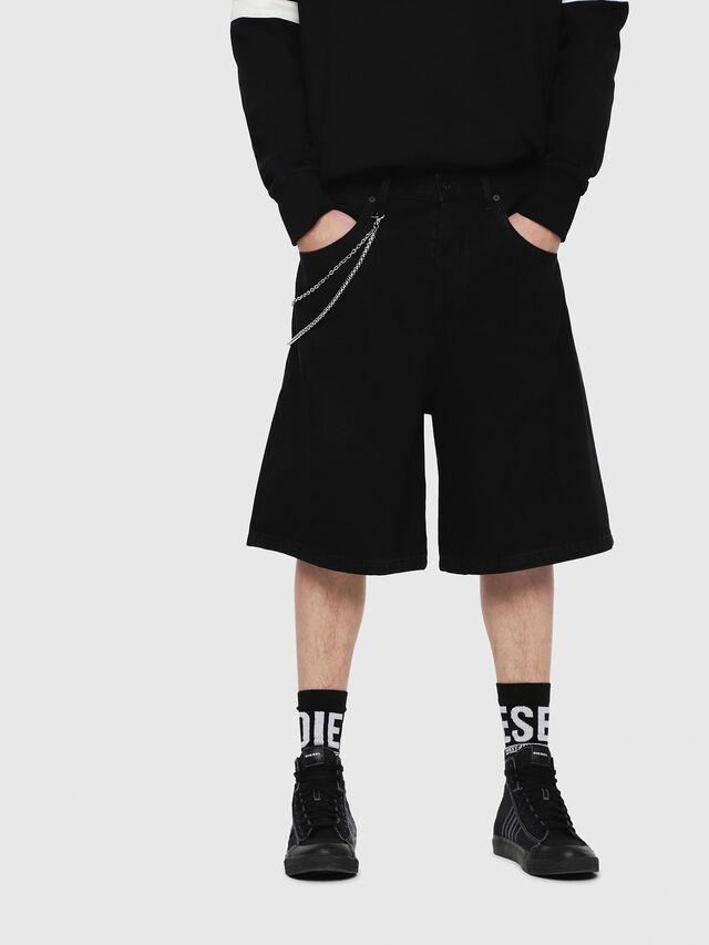 Diesel - D-BRON, Black - Shorts - Image 1