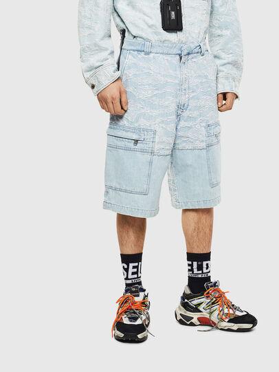 Diesel - D-LUK-SHORT, Light Blue - Shorts - Image 1