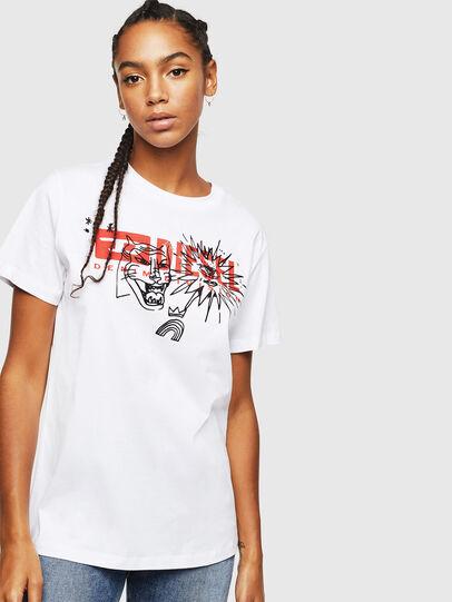 Diesel - T-DARIA-YC, White - T-Shirts - Image 1