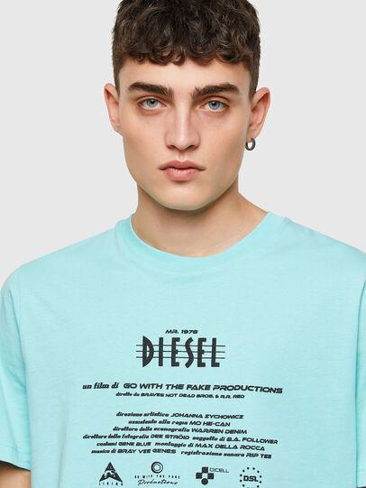 Diesel - T-JUST-E9, Light Blue - T-Shirts - Image 3