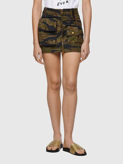 Diesel - O-IRAIDA-CMF, Military Green - Skirts - Image 1
