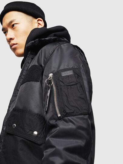 Diesel - W-SLOTKIN-A, Black - Winter Jackets - Image 5